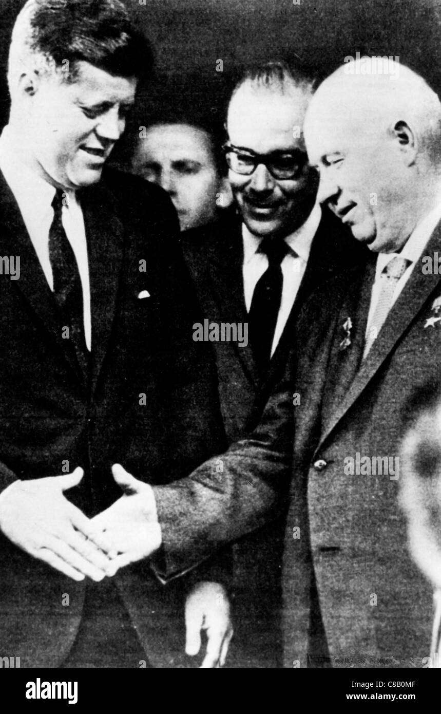 Kennedy Khrushchev meeting,Vienna 1961 - Stock Image
