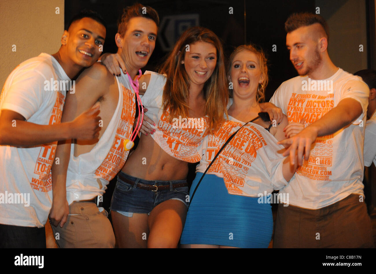 Sussex and Brighton  University students enjoy the annual Carnage UK event in Brighton - Stock Image