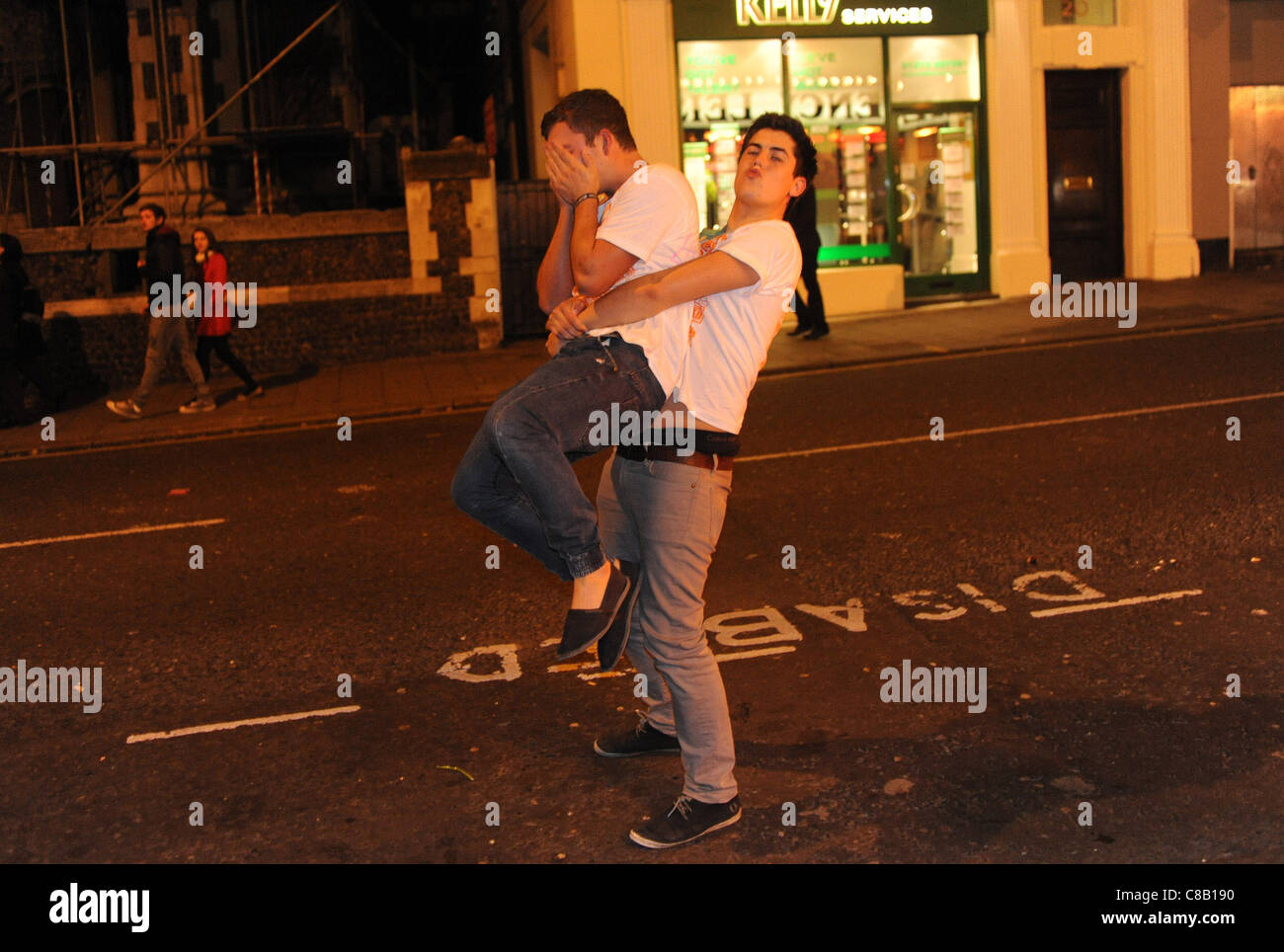 Students enjoy the annual Carnage UK event in Brighton - Stock Image