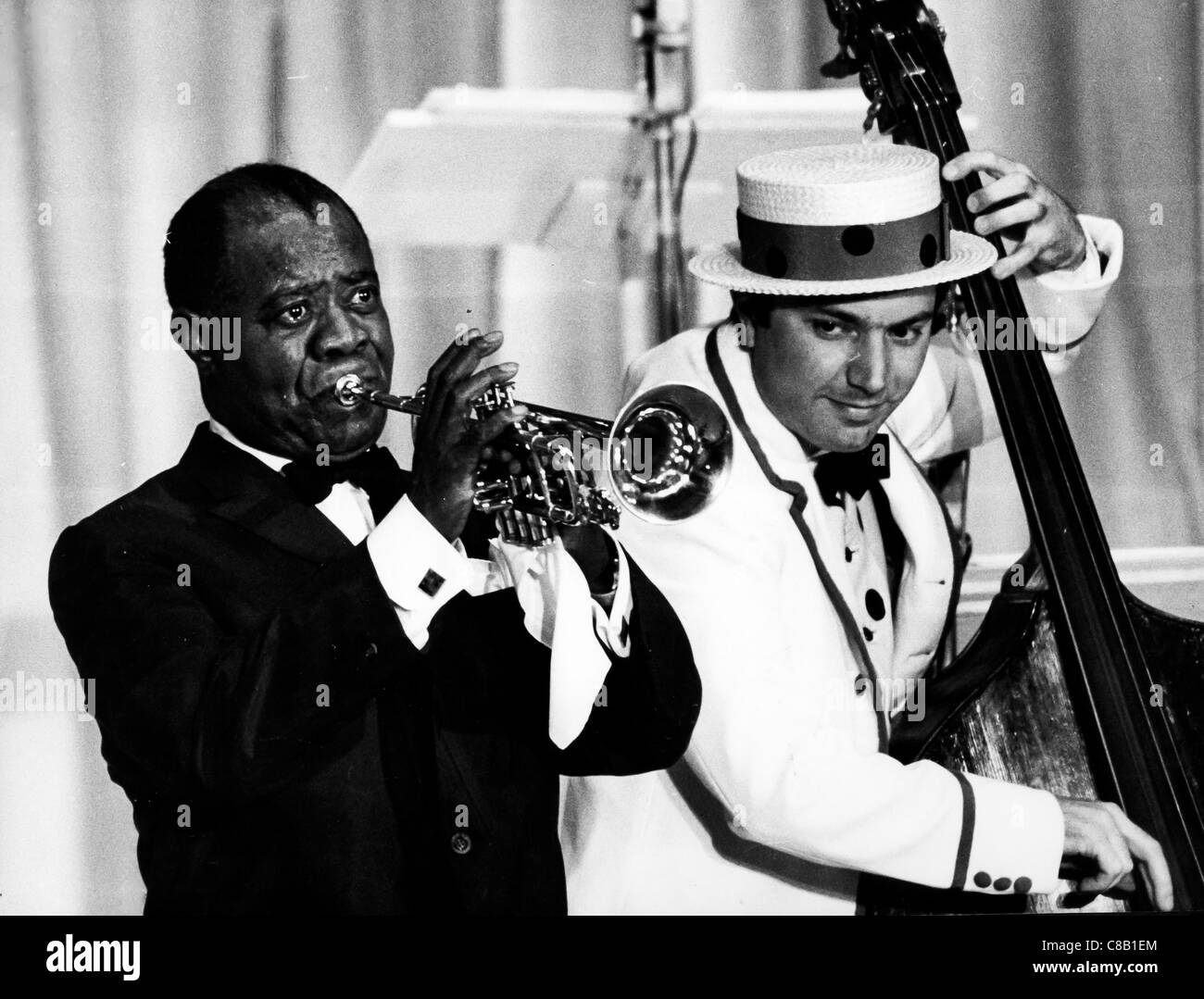 louis armstrong,1968 - Stock Image