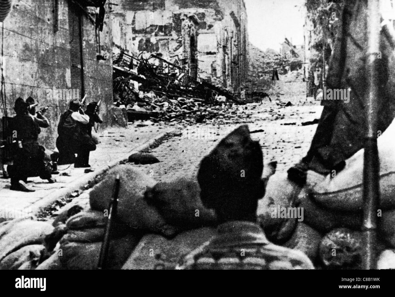 Alcazar siege of Toledo,the Spanish Civil War,1936 - Stock Image