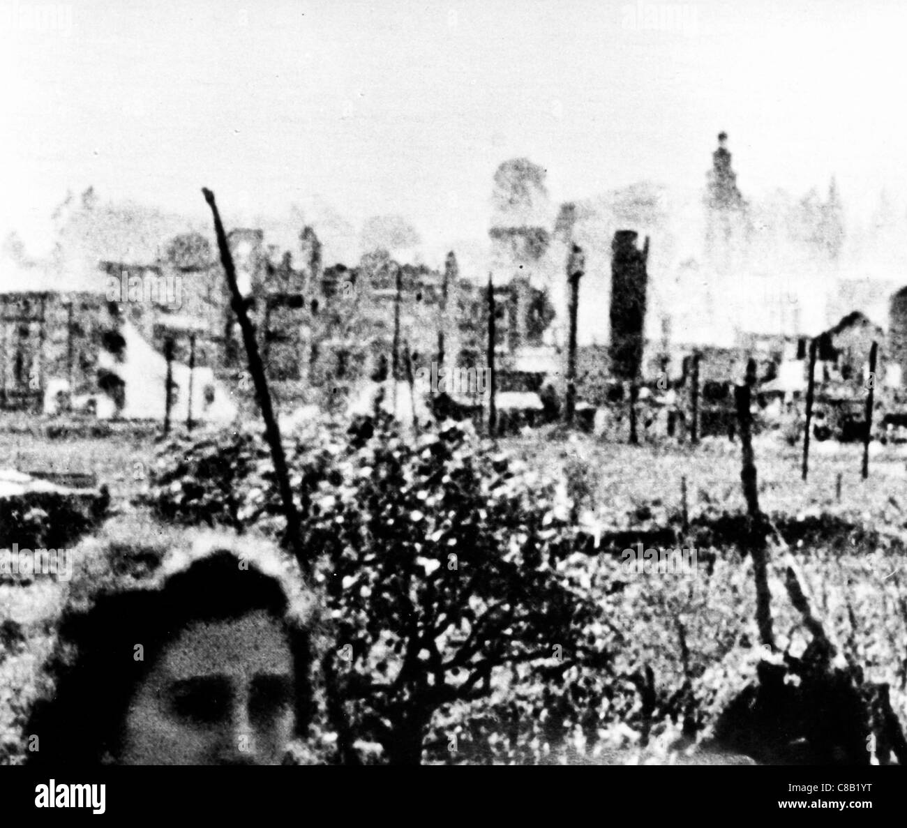 the bombing of Guernica,the Spanish Civil War,1936 - Stock Image