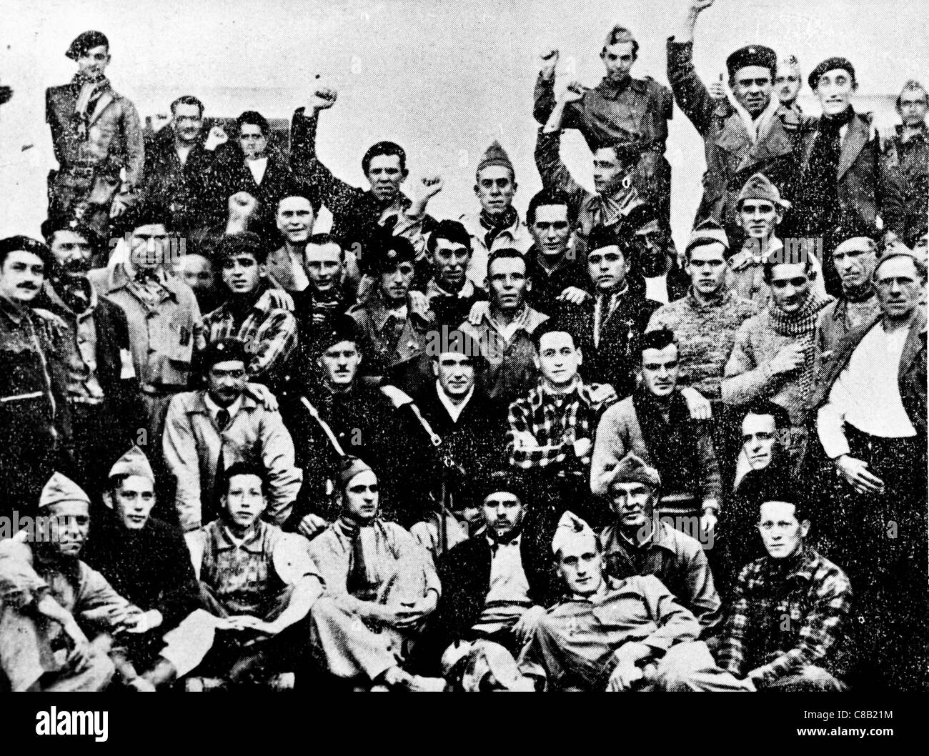 Republican volunteers,the Spanish Civil War,1936 - Stock Image