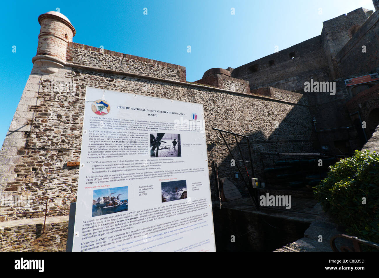 The French Commando training centre (Centre National d'Entrainement Commando) in Vauban's Fort Miradou, - Stock Image