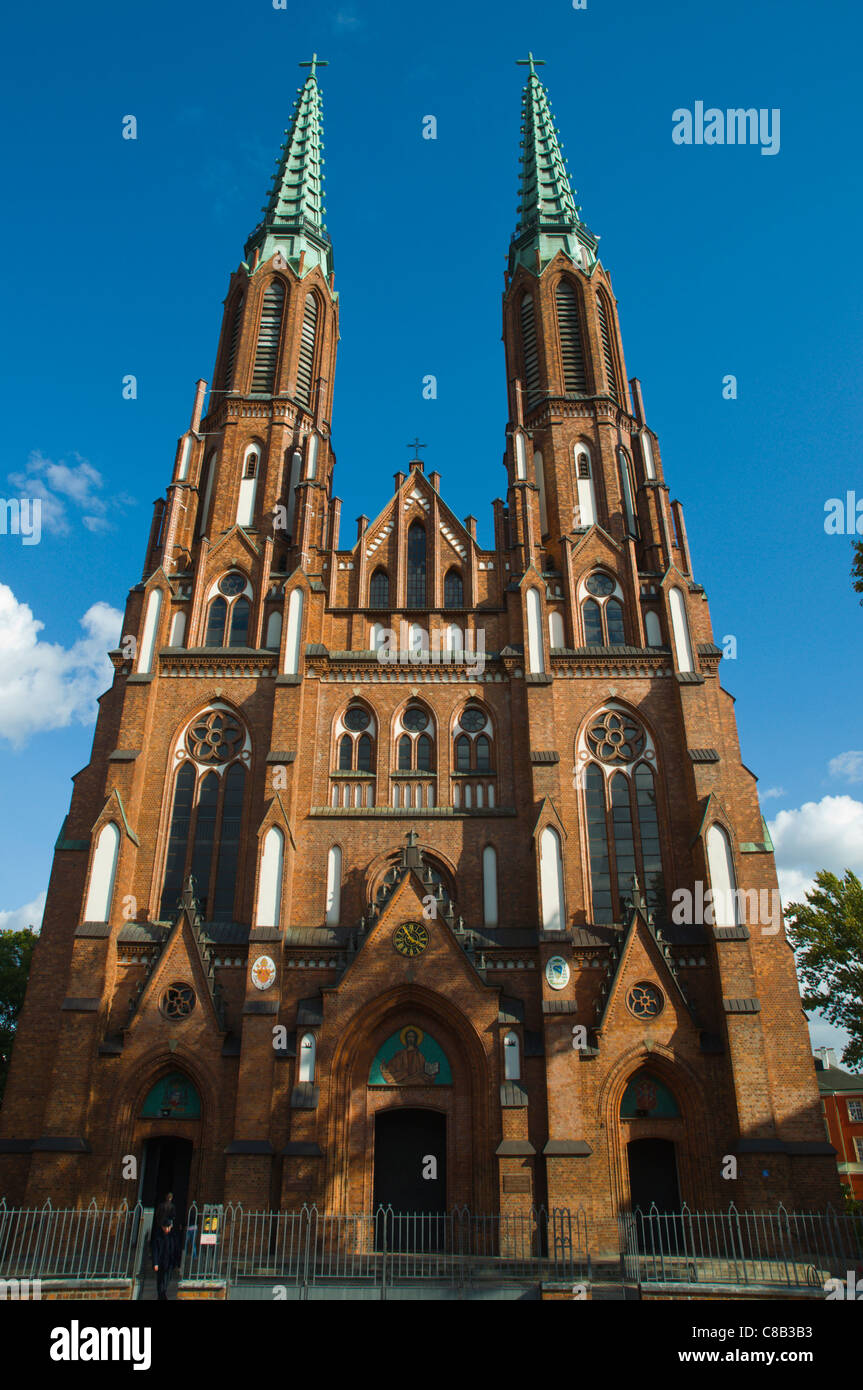 St Florian protestant church (1904) in Gothic revival style Praga district Warsaw Poland Europe - Stock Image