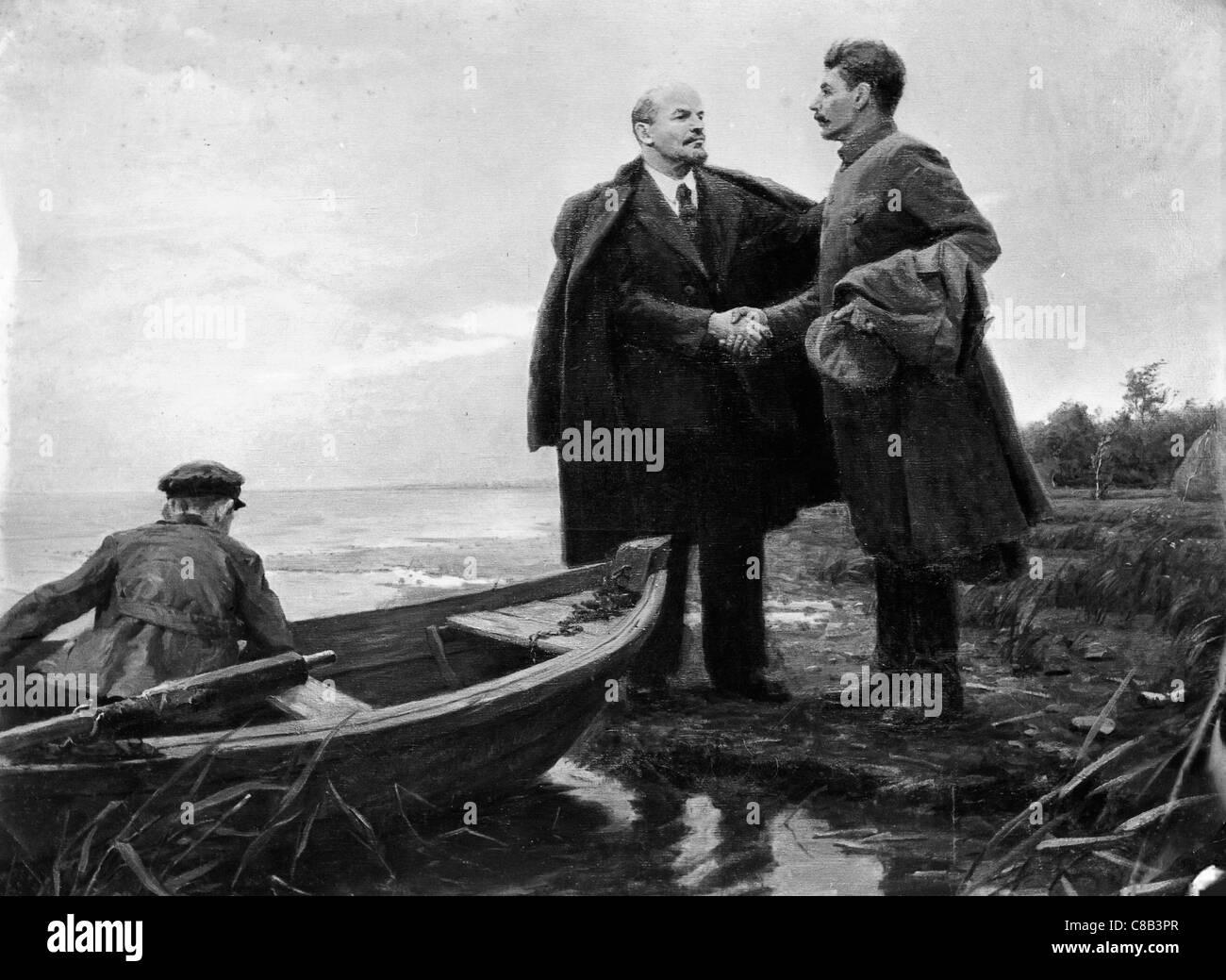 Vladimir Lenin and Iosif Stalin - Stock Image