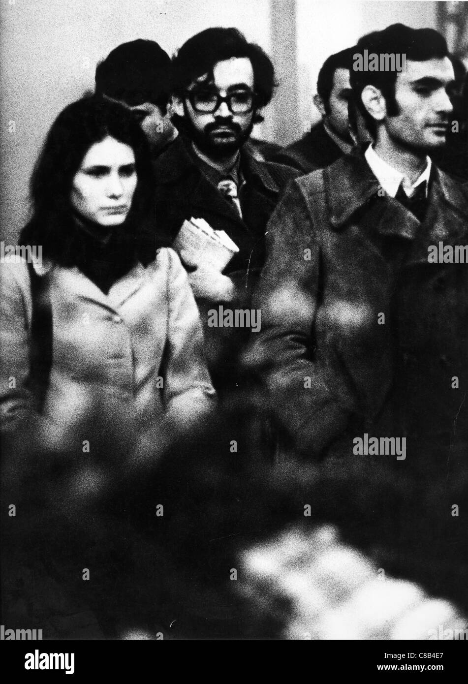 Oreste Scalzone at the funeral of Feltrinelli,1972 - Stock Image