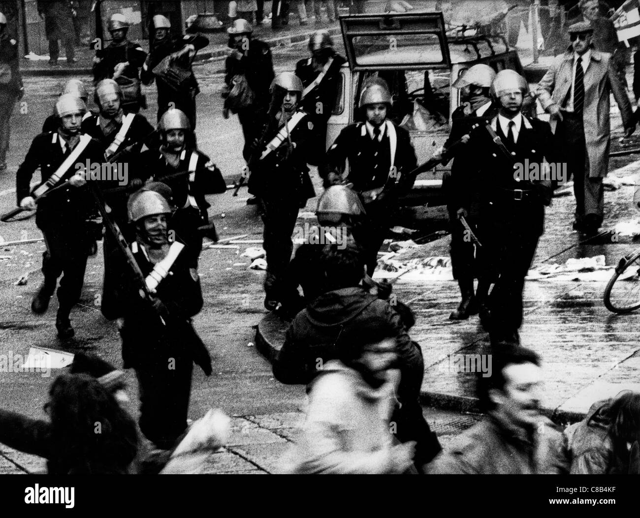 charge of the carabinieri,1979 - Stock Image