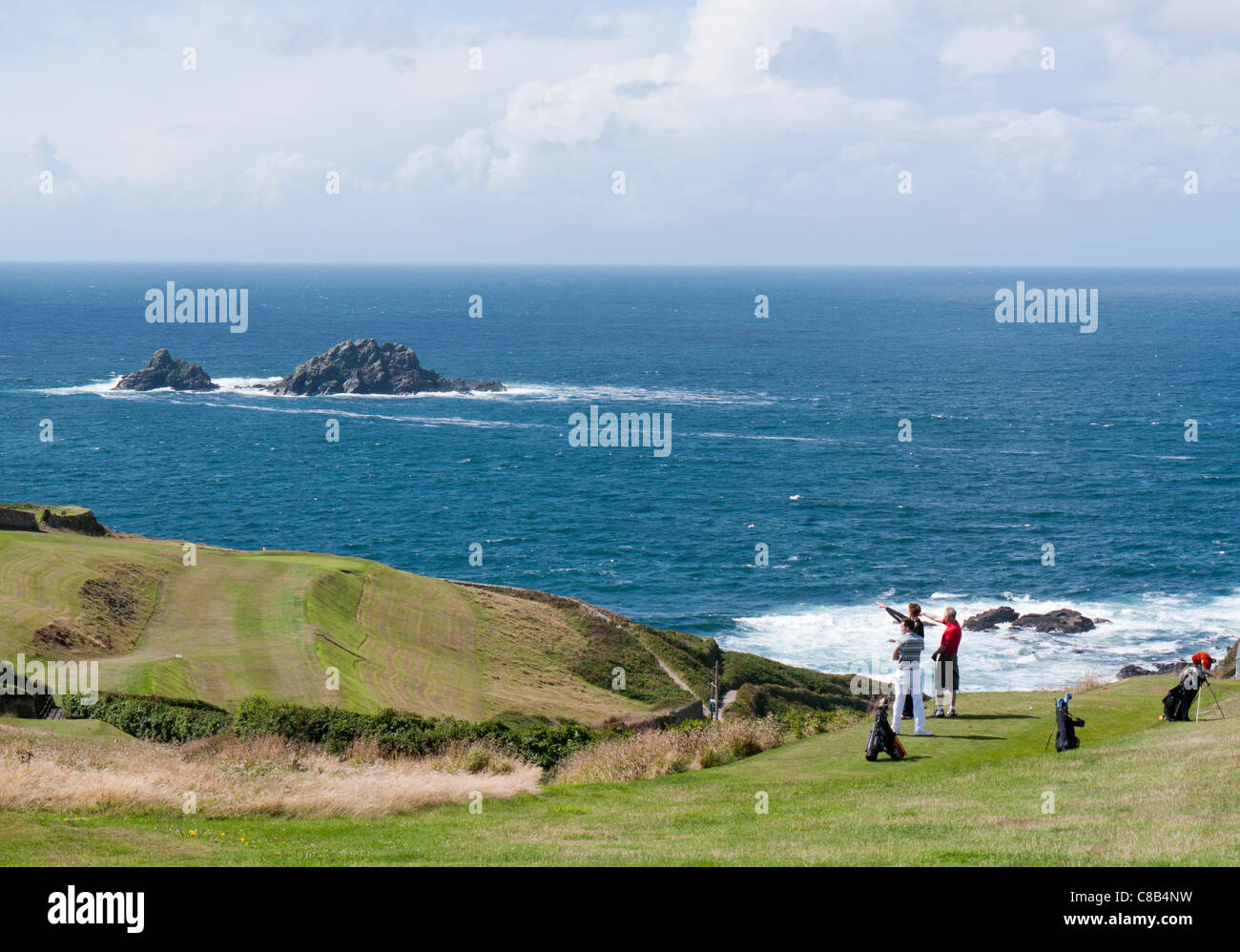 Cape Cornwall Golf Course Saint Just, Cornwall in Britain - Stock Image