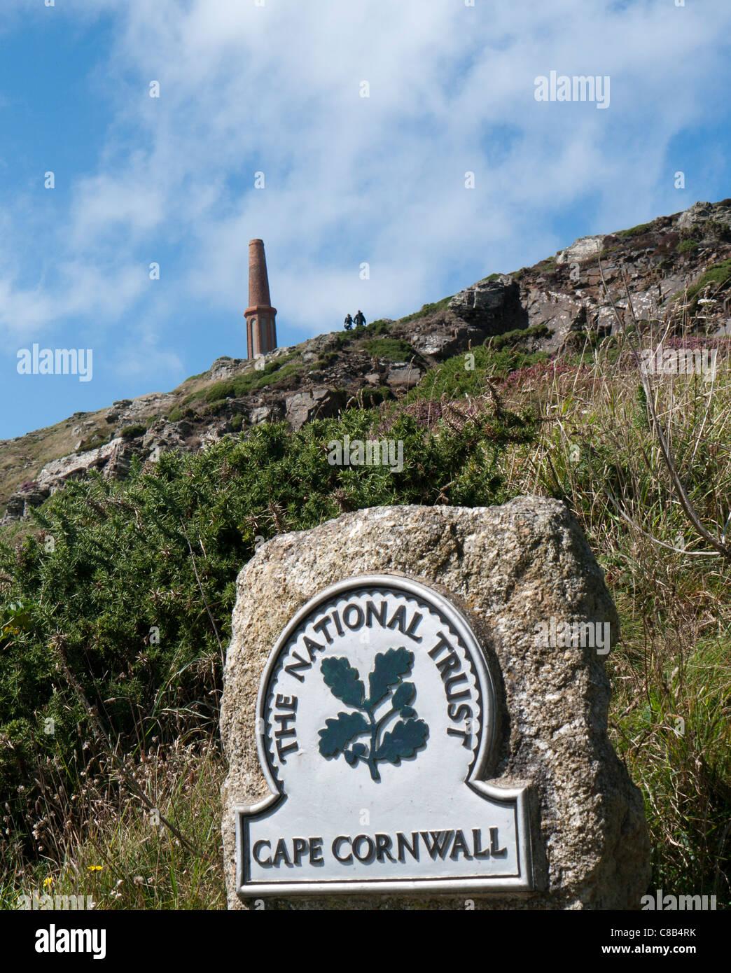 Cape Cornwall Saint Just, Cornwall in Britain - Stock Image