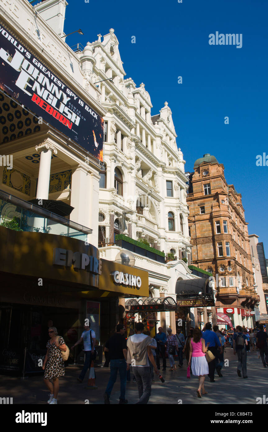 Leicester Square central London England UK Europe - Stock Image