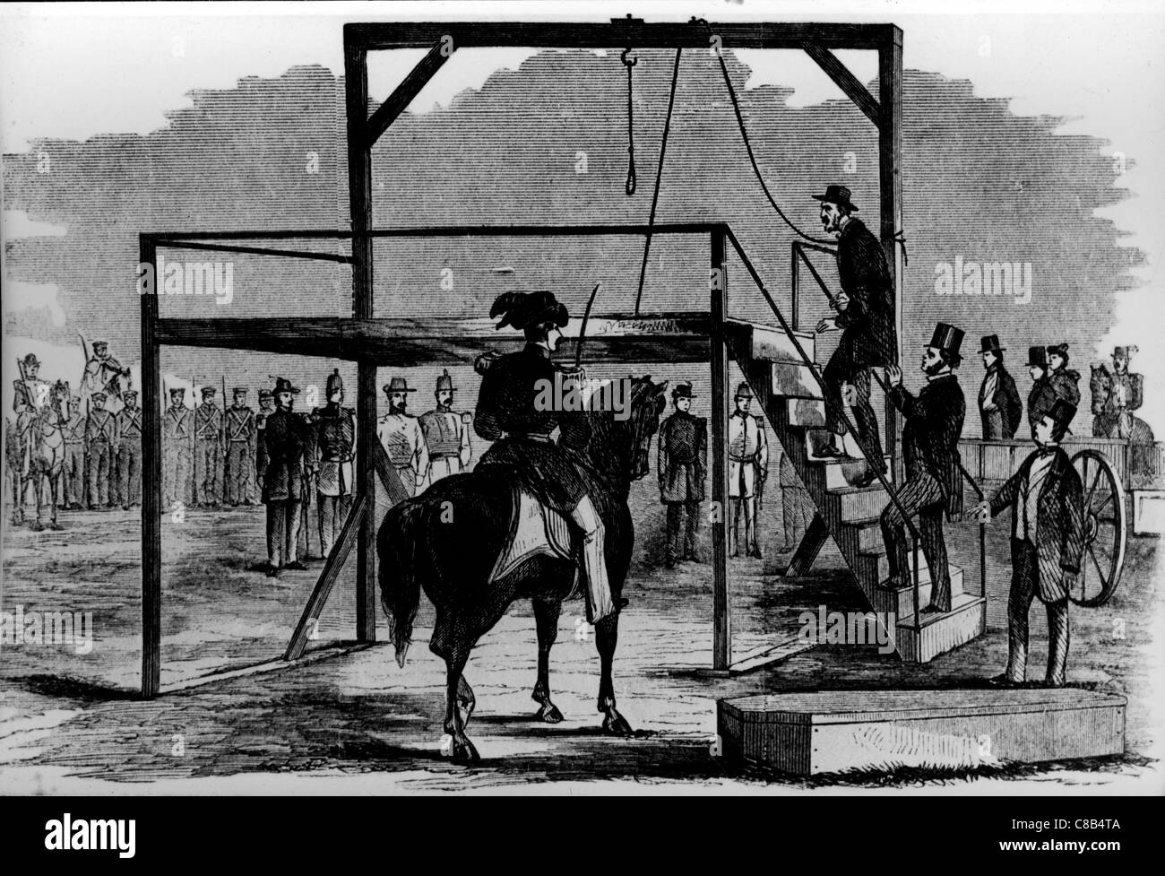Printing of the hanging of John Brown,1859 - Stock Image