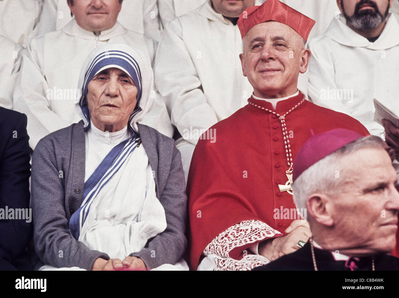 Cardinal Giovanni Umberto Colombo with Mother Teresa - Stock Image