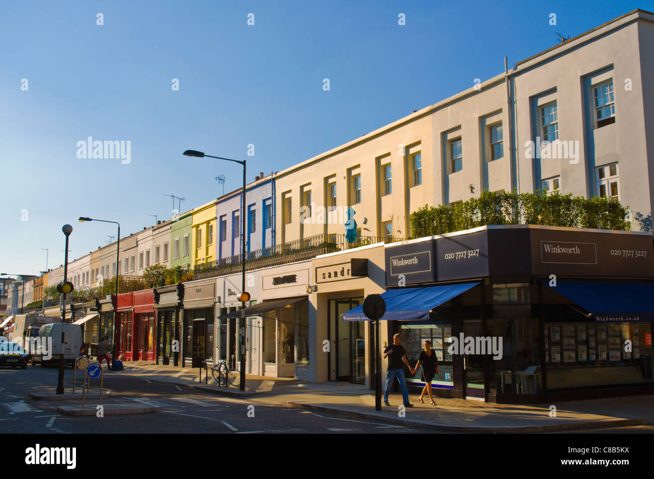 Westbourne Grove street Notting Hill district London England UK Europe - Stock Image