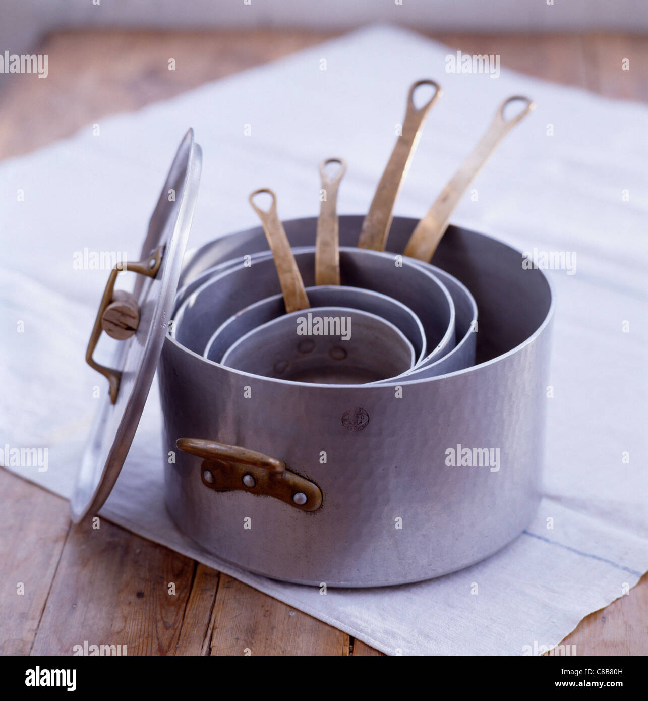 Cooking pans - Stock Image