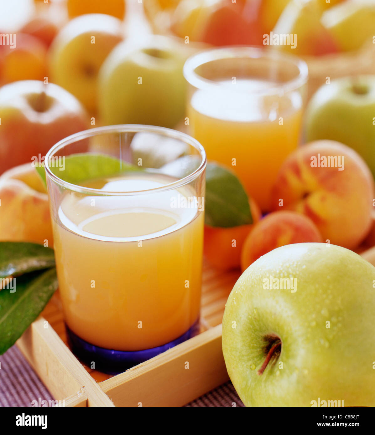 Fruit juices - Stock Image