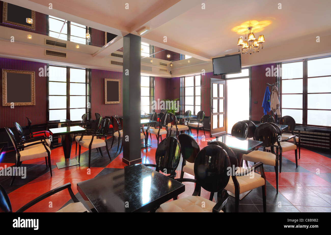 Interior Of A Cafe Mixed Vintage And Modern Style Of Design Stock Photo Alamy