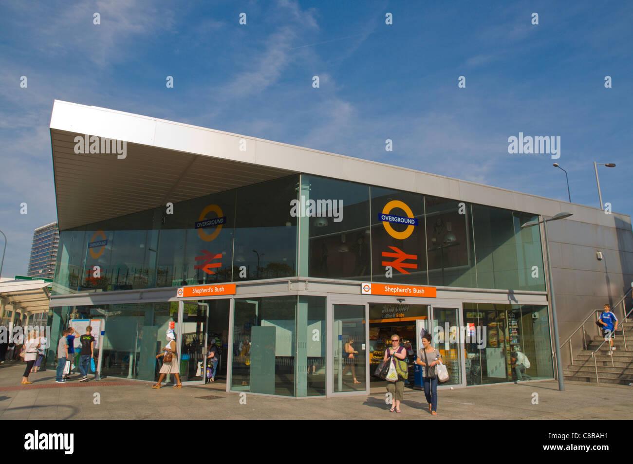 Overground train station Shepherd's Bush district west London England UK Europe - Stock Image