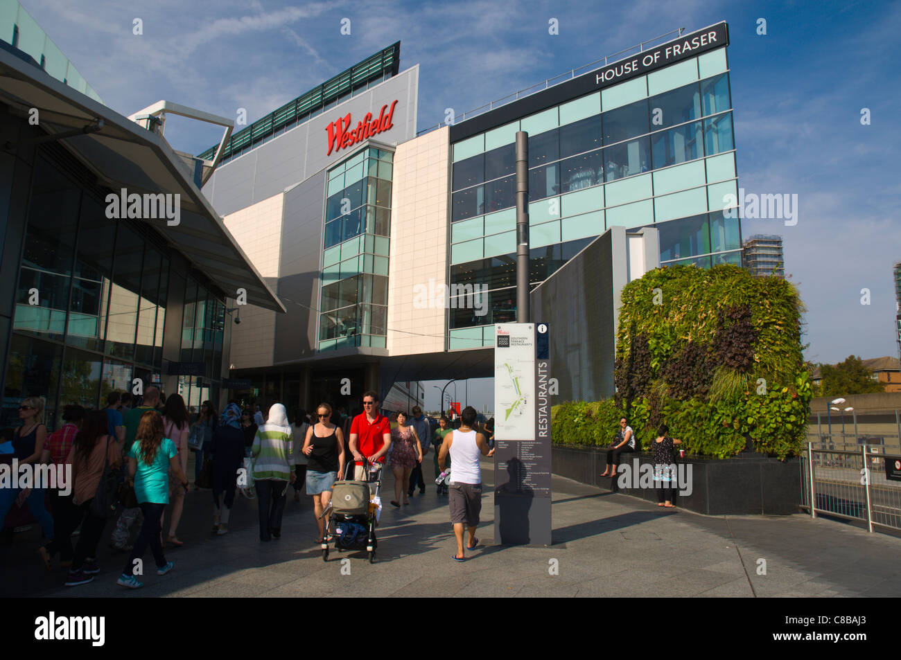 Westfield shopping centre Shepherd's Bush district west London England UK Europe - Stock Image