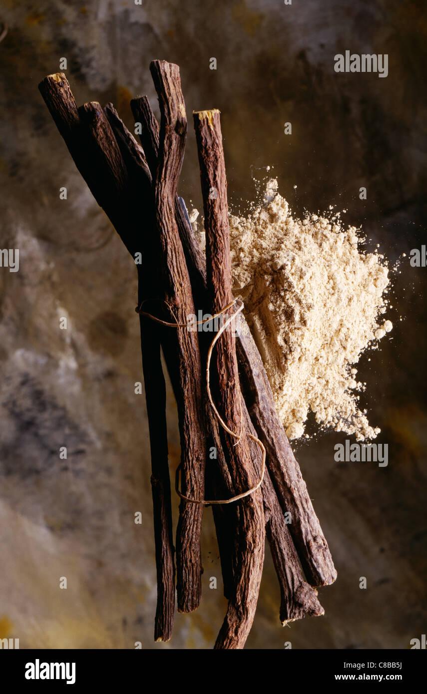 Liquorice sticks - Stock Image