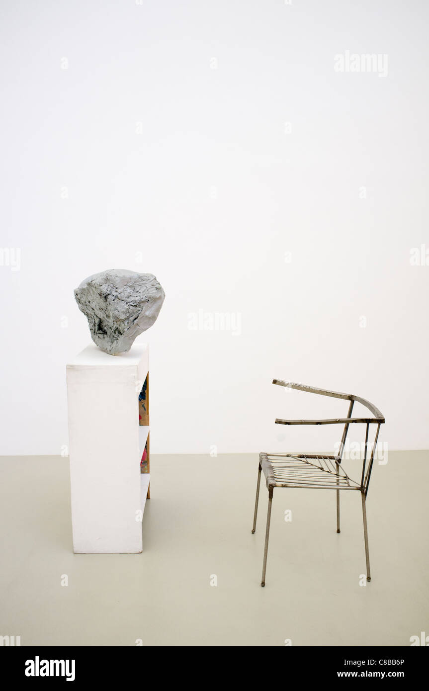 Sculpture Lobby Piece for a Museum by Franz West at Museum Abteiberg in Mönchengladbach Germany - Stock Image