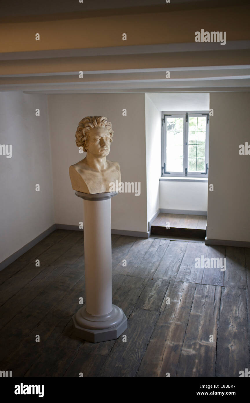 Beethoven Museum in house where composer was born in Bonn Germany - Stock Image