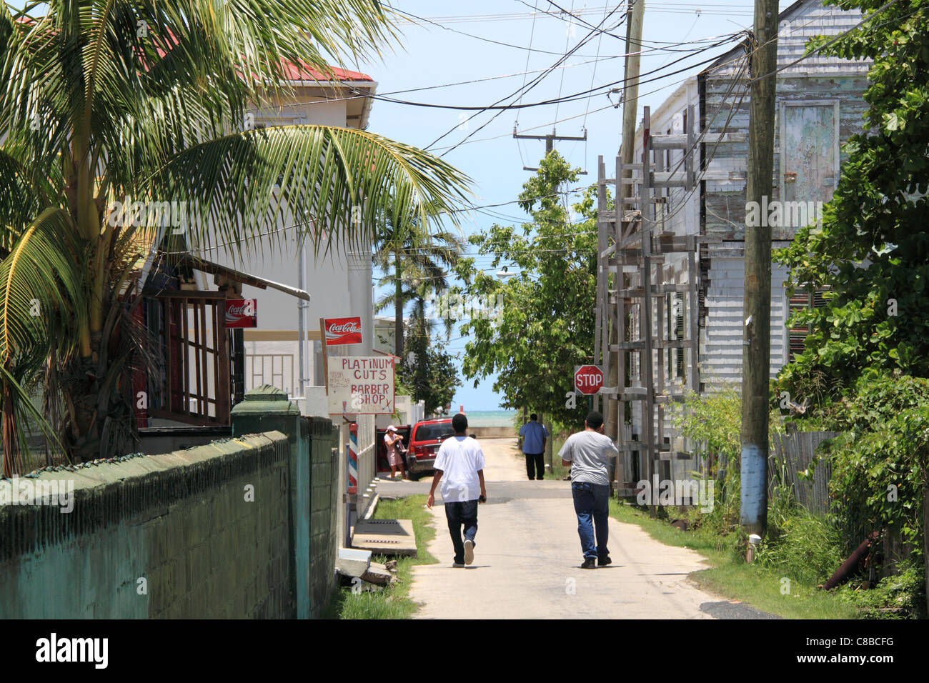 South Street, Belize City, Belize, Caribbean, Central America - Stock Image