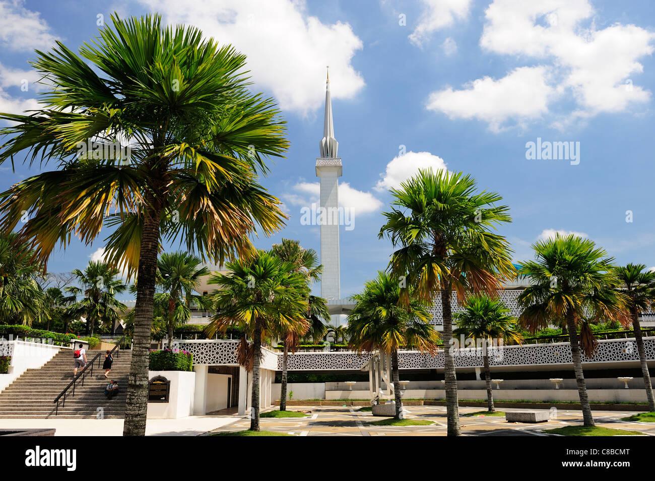 Masjid Negara Mosque, Kuala Lumpur, Malaysia - Stock Image