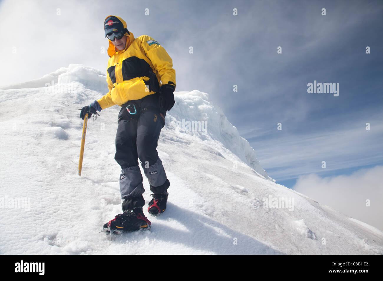 Sierra Nevada de Cocuy, Summit of Pan de Azucar - Stock Image