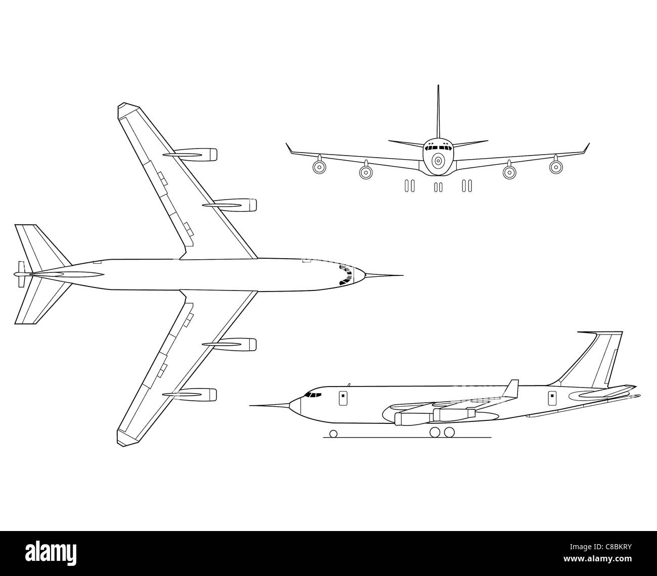 Kc 135 Drawings Art Outline Wiring Diagrams Laptop Power Supply Circuit Using Top269eg View Aircraft Line Drawing Cut Out Stock Images Pictures Alamy Rh Com Airplane