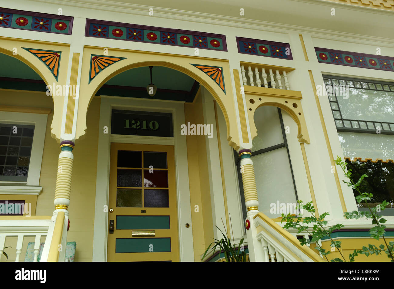Victorian home architecture 19th century Queen Victoria Anne Georgian Regency Edwardian arts and crafts movement - Stock Image