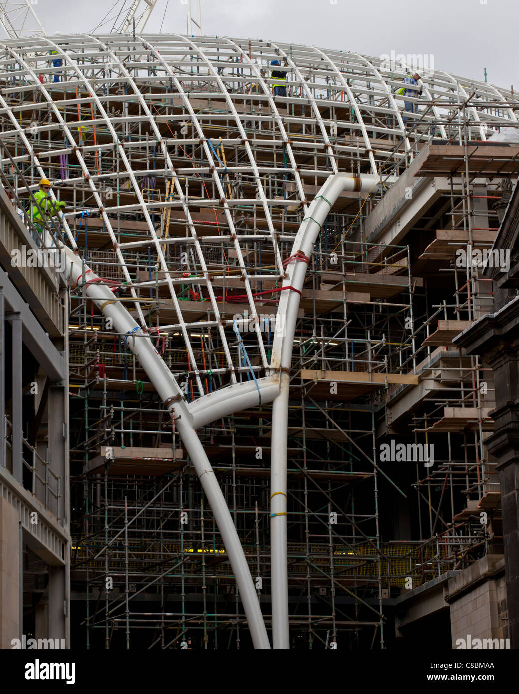 Trinity Quarter Dome Construction - Stock Image