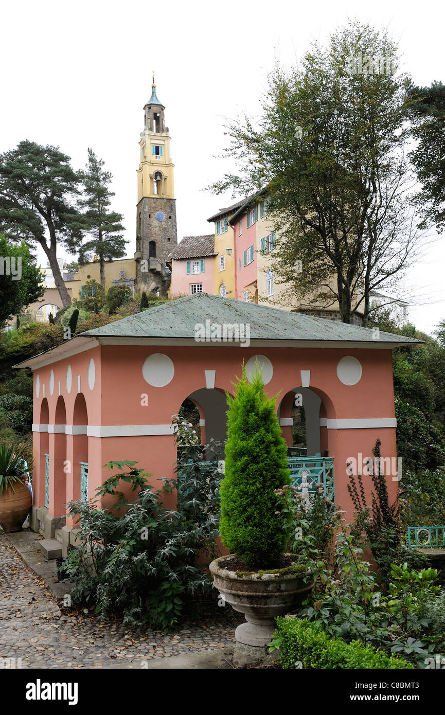 portmeirion Italianate village gwynedd north wales Stock Photo