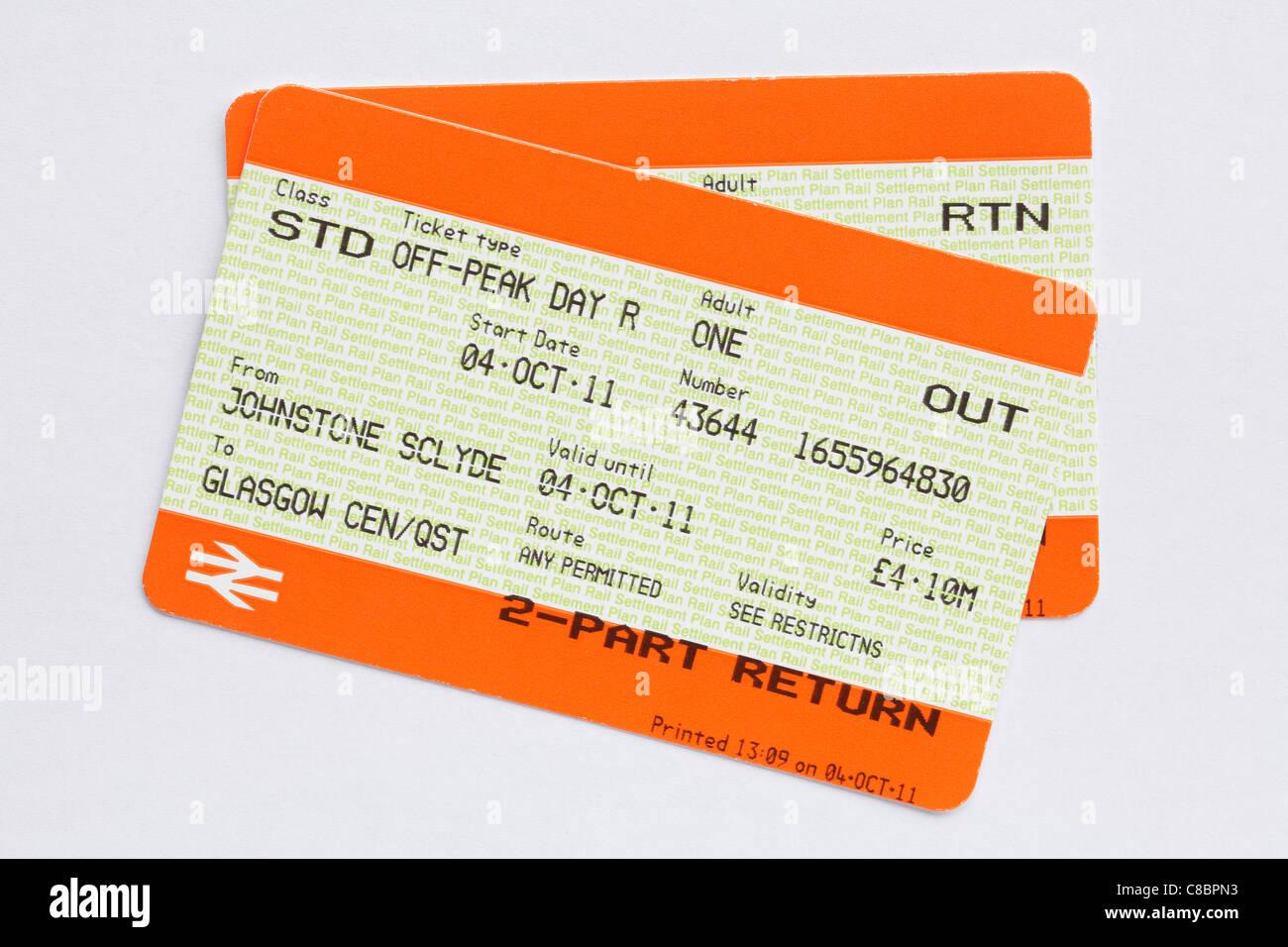 Vat On Train Tickets >> Train Ticket Scotland Uk Stock Photo 39597295 Alamy
