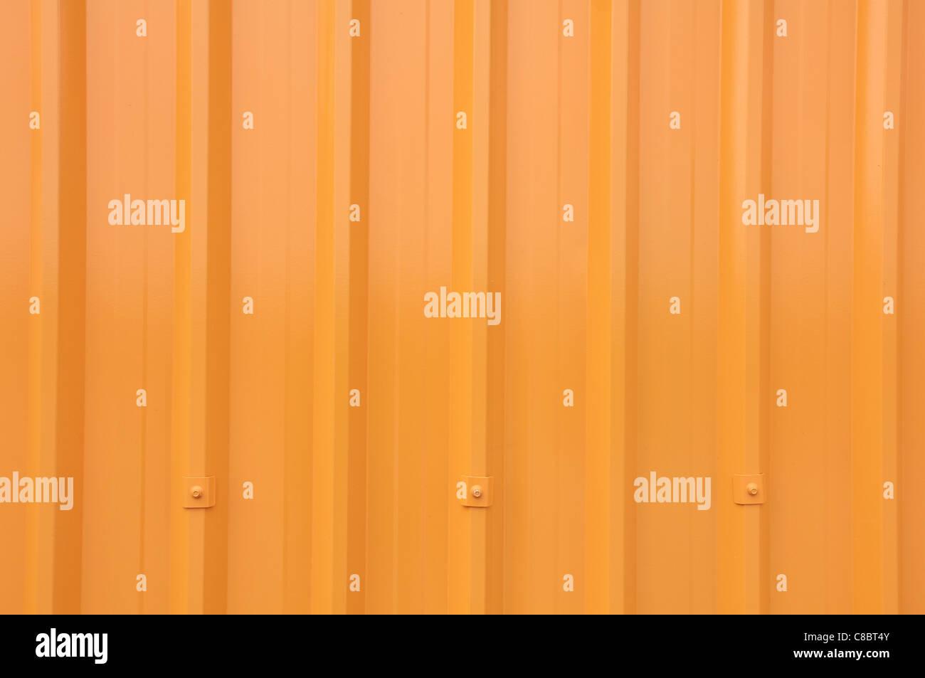 Yellow Corrugated Longrun Iron - Stock Image