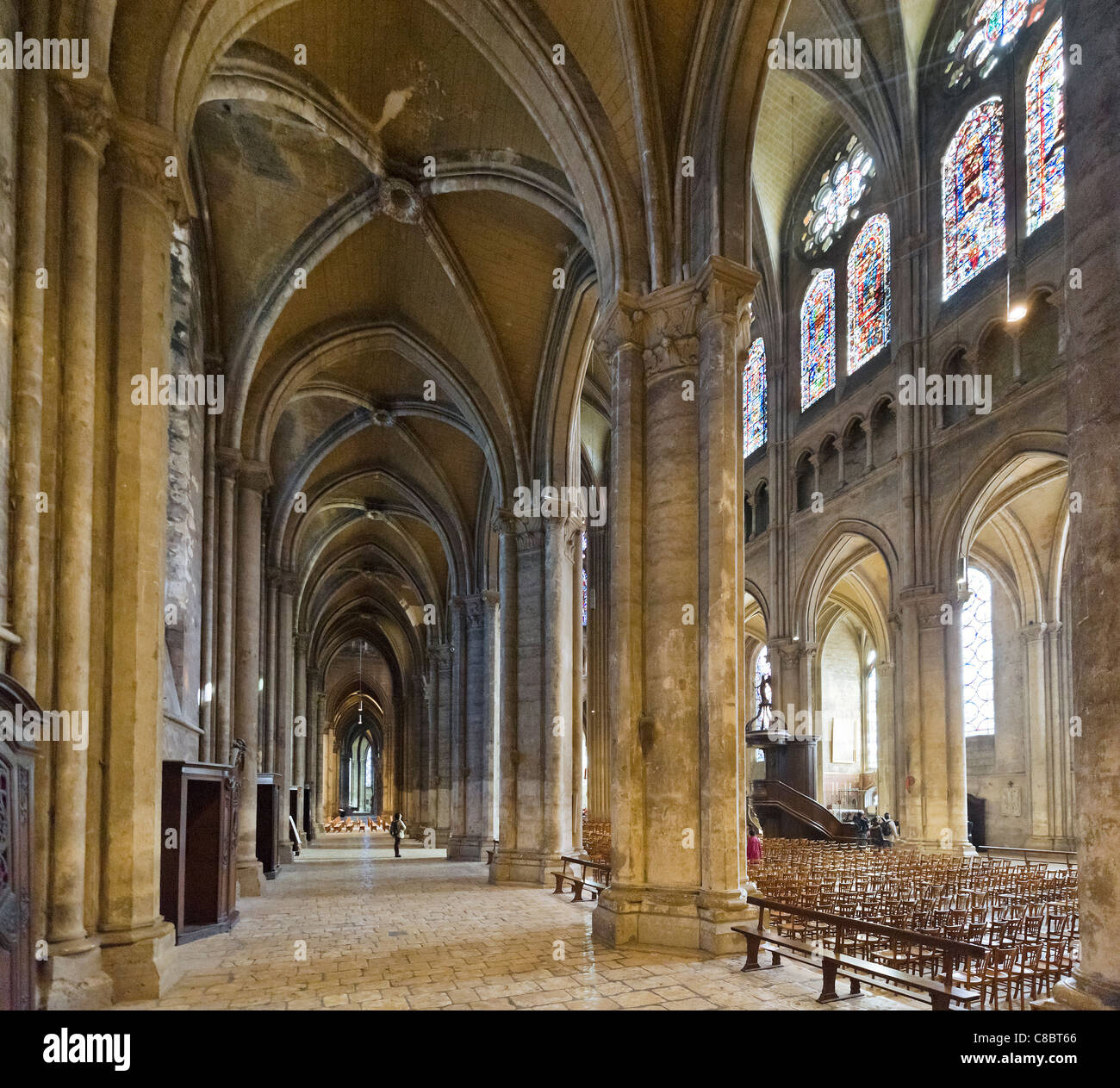 Interior of the Cathedral of Notre Dame, Chartres, France - Stock Image