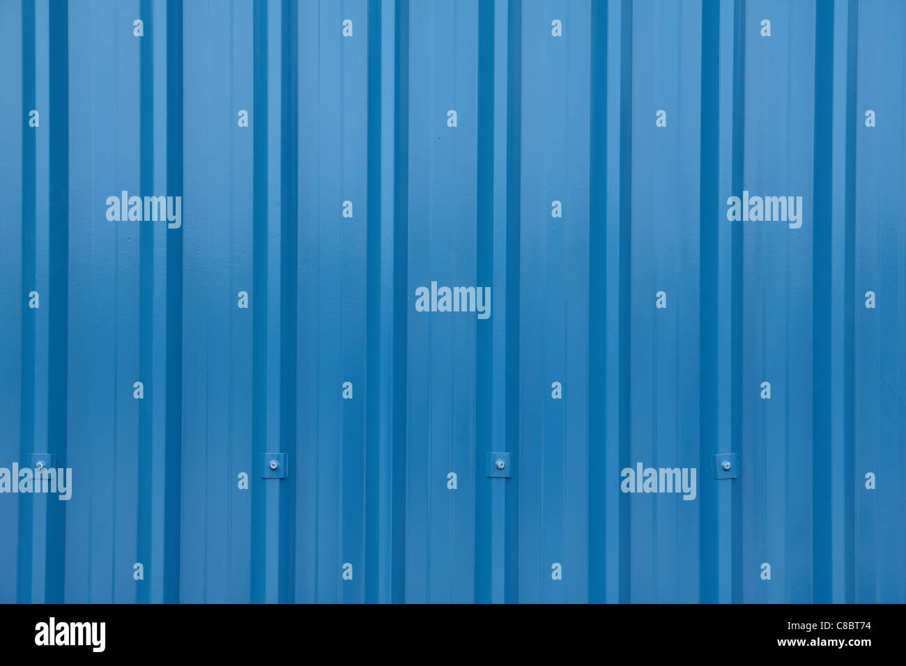 Blue Corrugated Longrun Iron - Stock Image