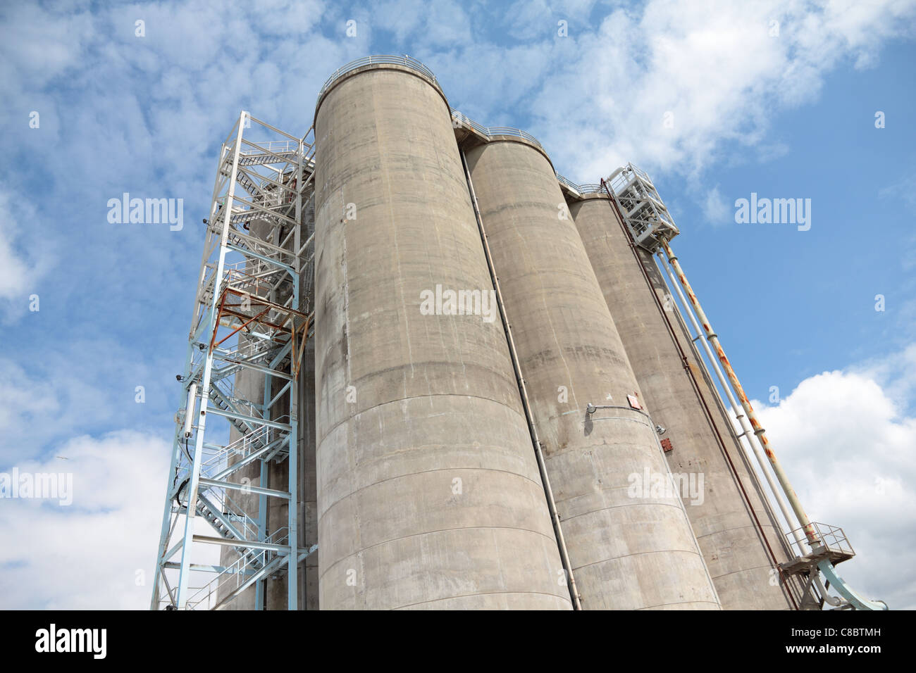 Tanks and Metal Stair - Stock Image