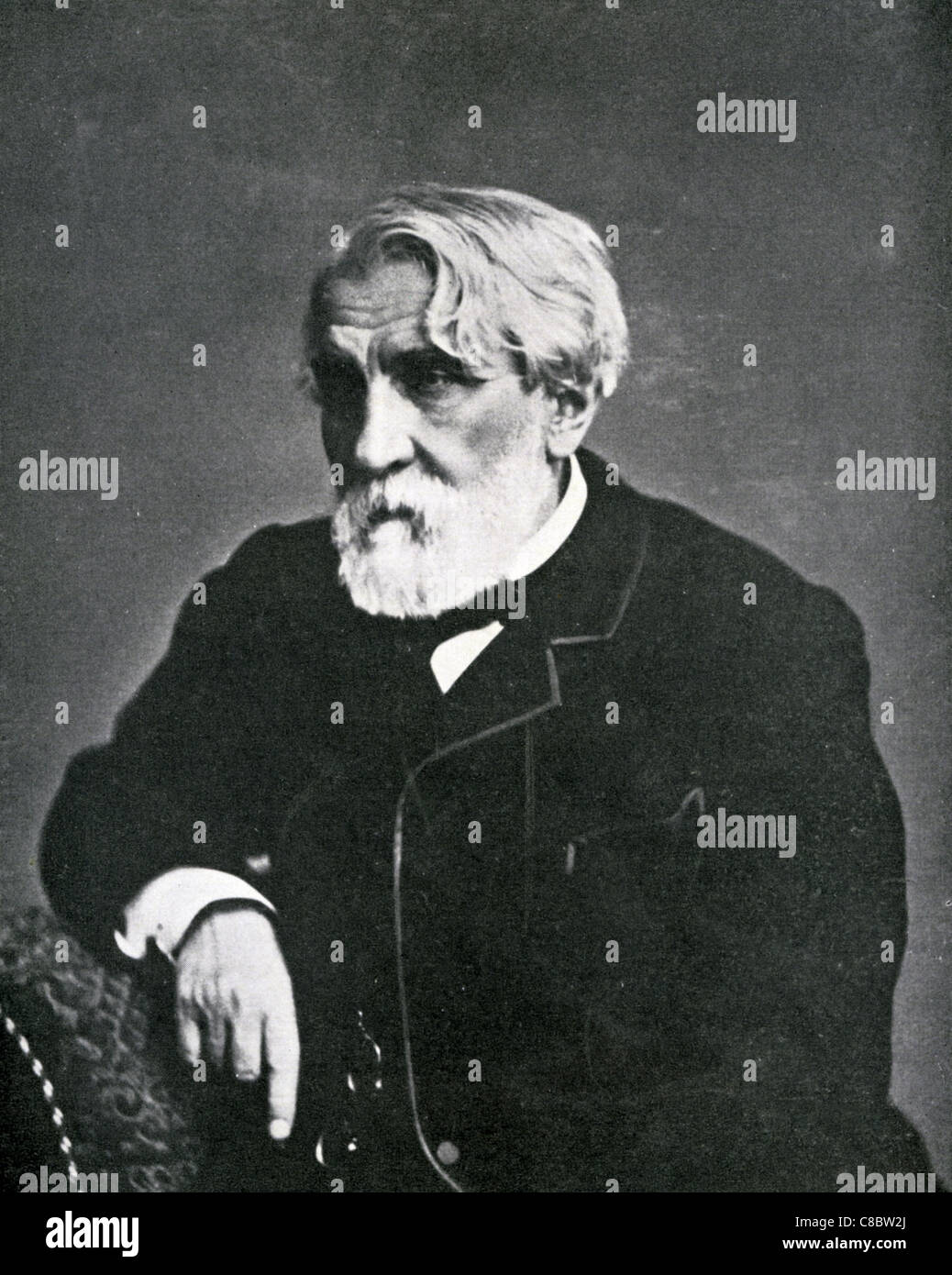 IVAN TURGENEV (1818-1883) Russian novelist - Stock Image