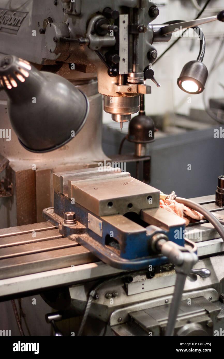 A Bridgeport drill press. Stock Photo