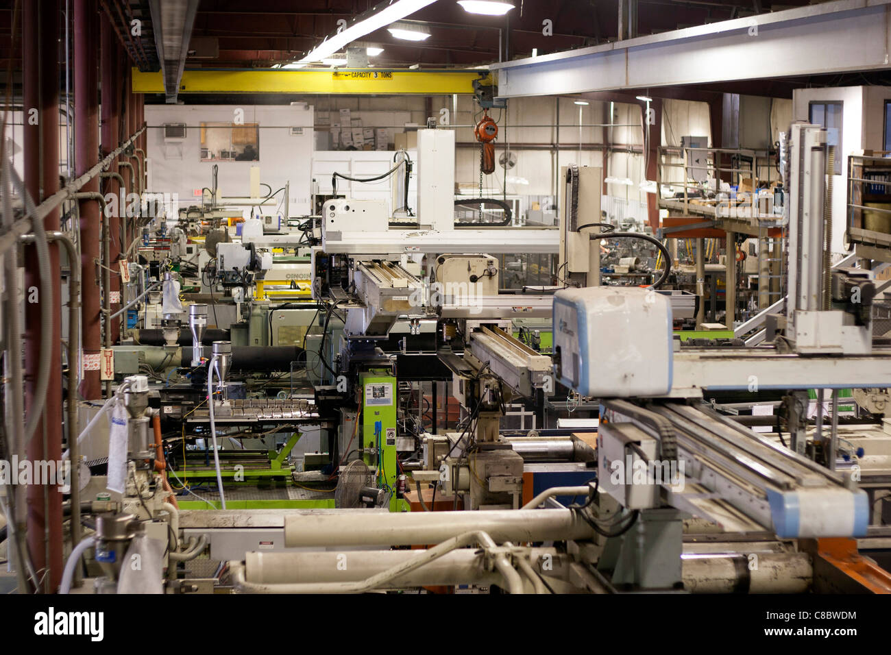 A plastics molding injection plant in Hudson, Colorado, USA. - Stock Image