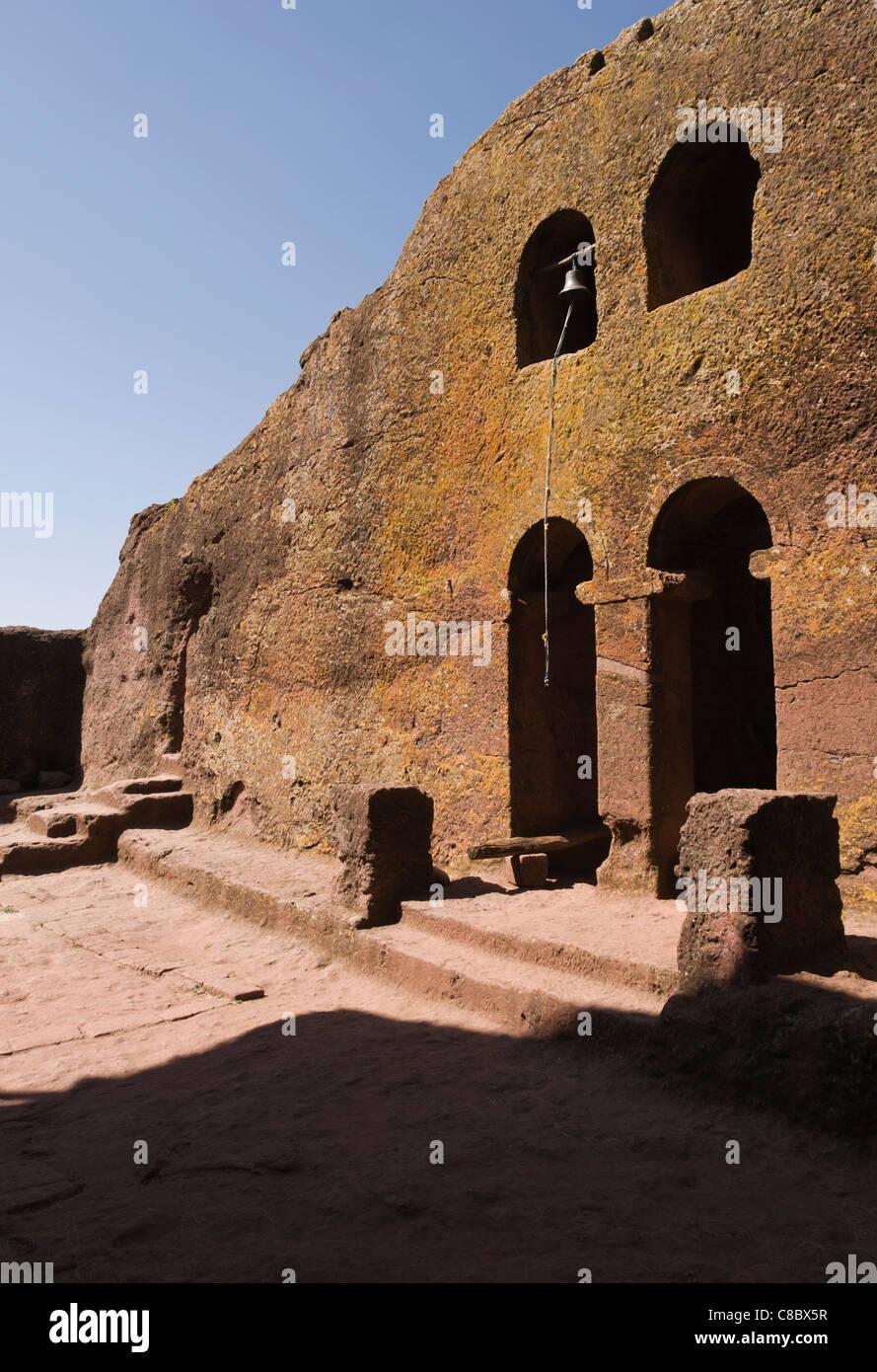 Elk200-3154v Ethiopia, Lalibela, rock cut church, 12th-13th c, Bet Maryam - Stock Image