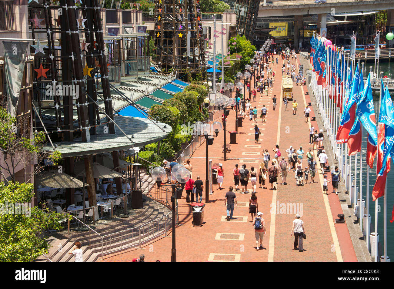 Cockle Bay Wharf  Darling Harbour Sydney  Australia - Stock Image