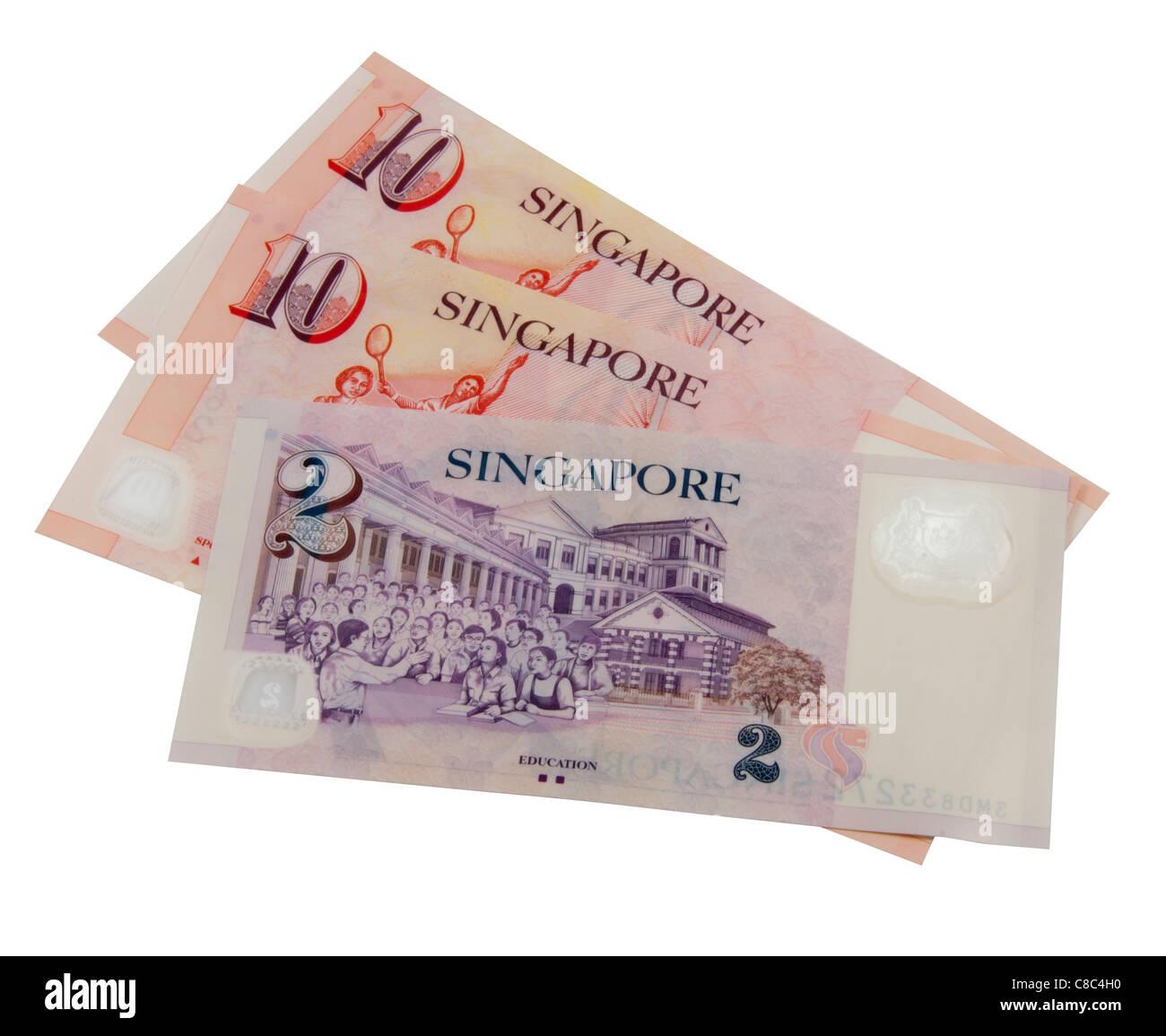 Singapore Dollar Notes - Stock Image