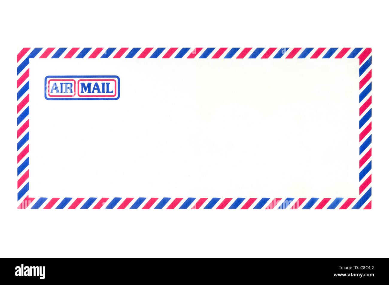 Air Mail Envelope on white background - Stock Image