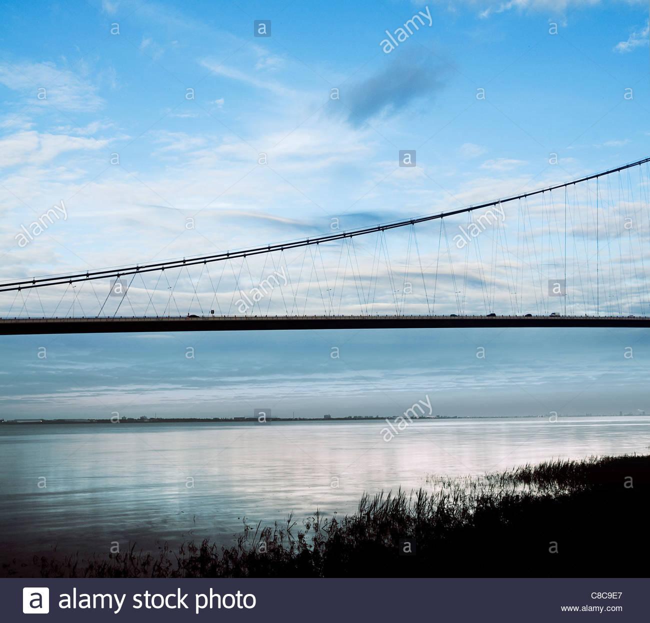 The Humber bridge - Stock Image