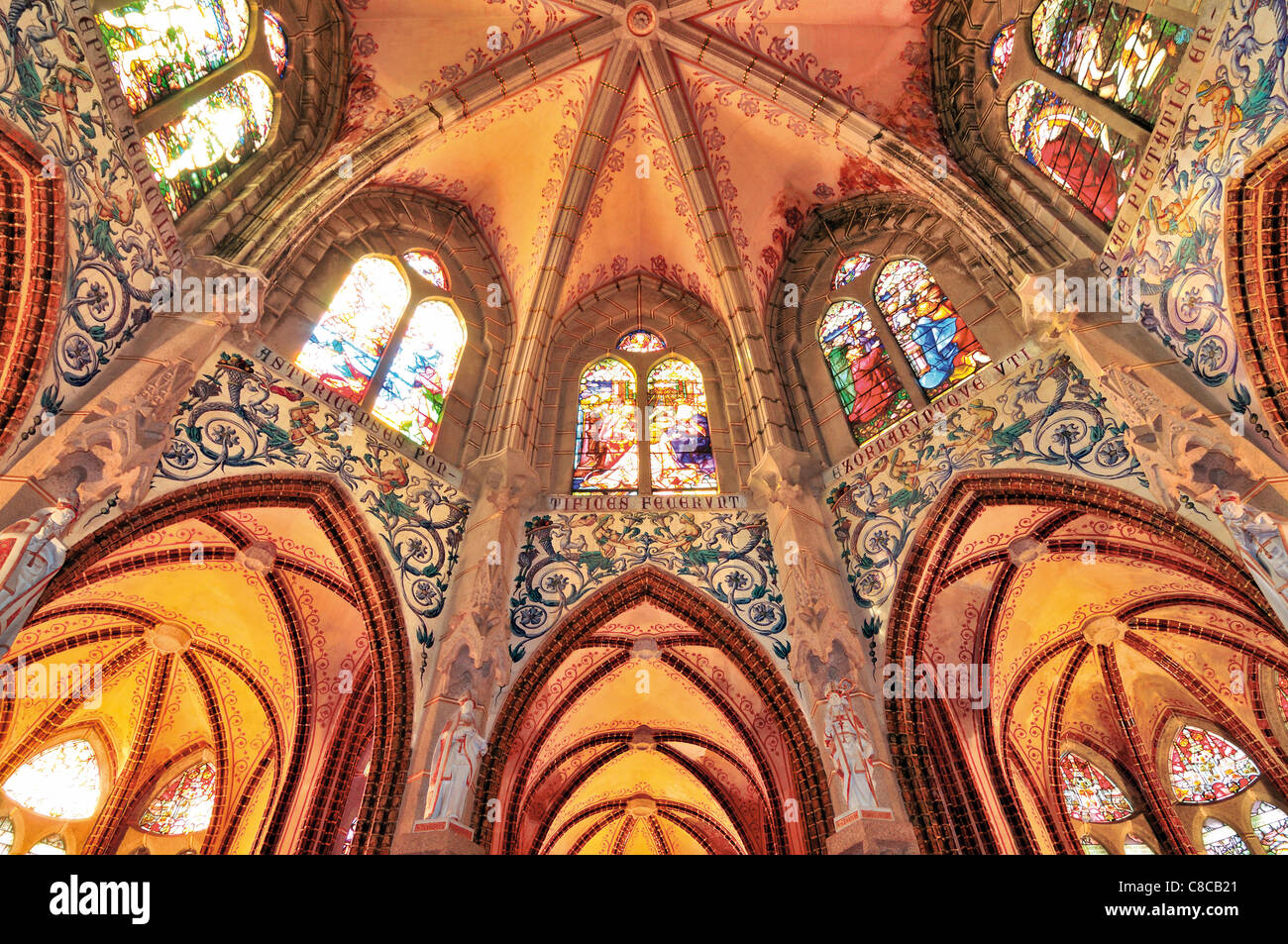 Spain, St. James Way: Detail of the chapel of the Bishop´s palace of Astorga - Stock Image