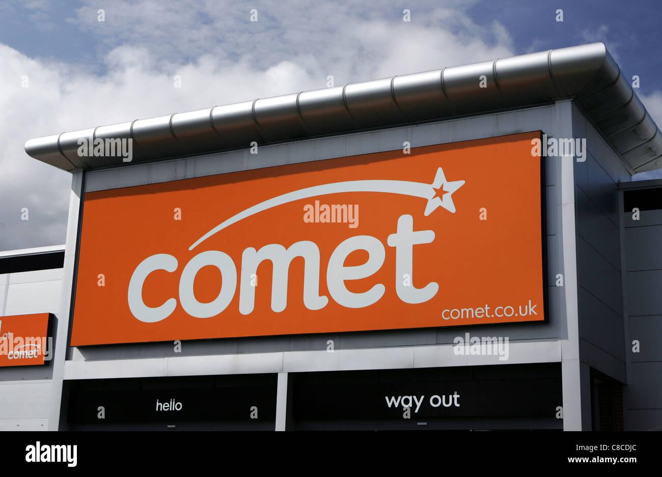 comet store fron uk - Stock Image