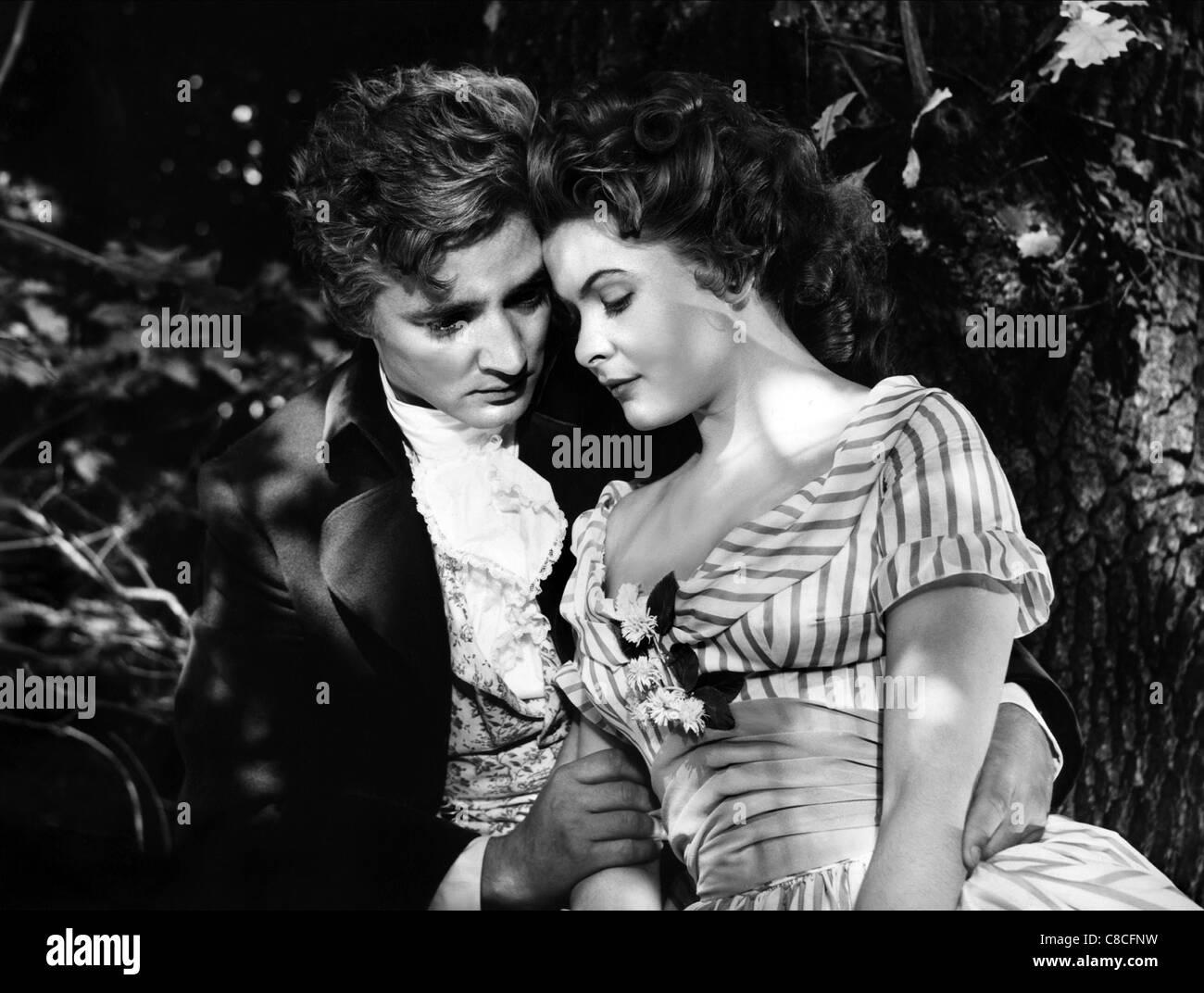 OSKAR WERNER & JOHANNA MATZ MOZART (1955) - Stock Image