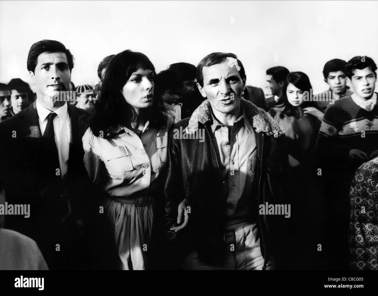 MARIE LAFORET, CHARLES AZNAVOUR, RAT TRAP, 1963 - Stock Image